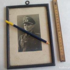 Militaria: ANTIGUA FOTOGRAFIA ENMARCADA DE MILITAR DEL EJERCITO ALEMÁN ANTIQUE PHOTO. Lote 147346490