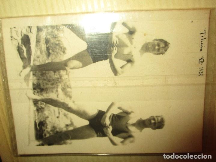 Militaria: FOTO ORIGINAL BAÑISTAS SOLDADO U OFICIAL ATLETA POST GUERRA CIVIL TILIUIN 1939 MES VI - Foto 3 - 147351702