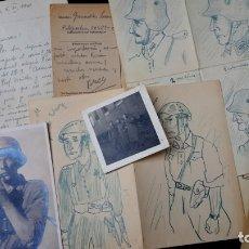 Militaria: RUSIA - 1941 - OPERACIÓN BARBARROJA - CARTAS, FOTOGRAFIAS, DIBUJOS Y DOCUMENTOS. Lote 147463806