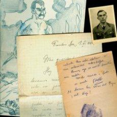 Militaria: RUSIA - OPERACIÓN BARBAROJA - 1941 - CARTAS, DIBUJO Y FOTOGRAFIA. Lote 147468518