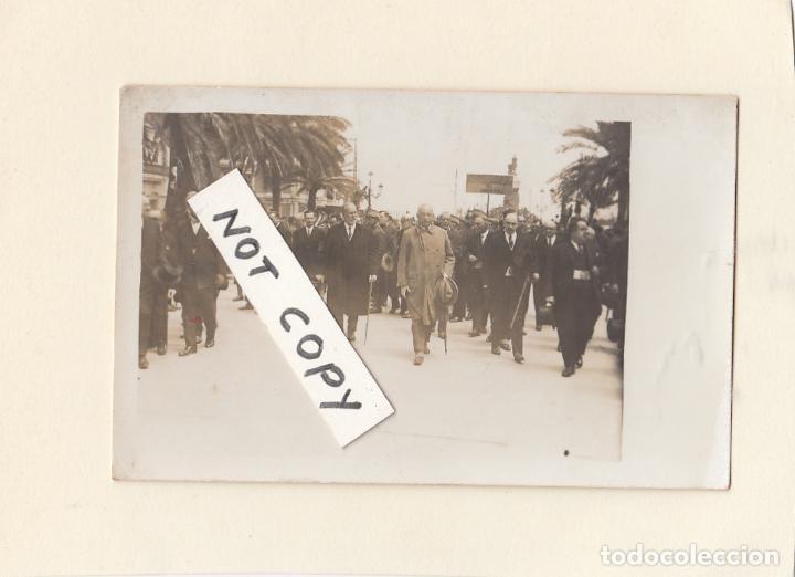 VISITA DEL GENERAL MIGUEL PRIMO DE RIVERA A CÁDIZ.FINALES AÑOS 20S.POSTÁL FOTOGRÁFICA. (Militar - Fotografía Militar - Guerra Civil Española)