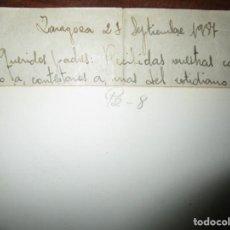 Militaria: GUERRA CIVIL 1937 OFICIAL MELILLA LEGION ZARAGOZA HERIDO VALA EN TORAX EN BATALLA FRENTE DE ARAGON. Lote 147916602