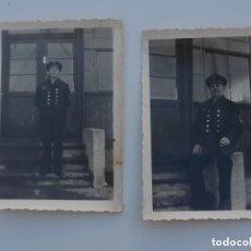 Militaria: 2 FOTOGRAFIAS ALEMANAS 2ªGM .GEFREITER DE LA KRIEGSMARINE . ORIGINAL 100 %. Lote 148068974