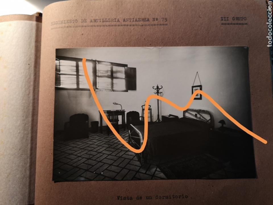 Militaria: ALBUM DE FOTOS REGIMIENTO MILITAR DE ARTILLERIA ANTIAEREA Nº 75, GRUPO 3, COMANDANTE JEFE. - Foto 5 - 148244884
