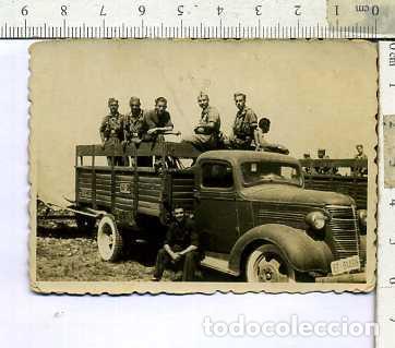 FOTOGRAFIA MILITAR SOLDADOS EN UN CAMION DEL E.T FOTO SOLER (Militaria - Military Photography - Other Photographs)