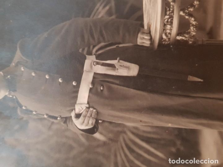 Militaria: ANTIGUA FOTOGRAFÍA MILITAR EJÉRCITO BAYONETA OLYMPIA BARCELONA? - Foto 4 - 152824446