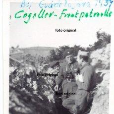 Militaria: BATALLA GUADALAJARA COGOLLOR OFICIAL PANZER TRINCHERA 1937 GUERRA CIVIL. Lote 149225638