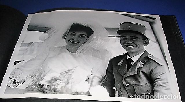 ALBUM DE FOTOS DE LA BODA DE UN MILITAR FRANCES. AÑOS 50-60 (Militar - Fotografía Militar - Otros)