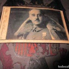 Militaria: FRANCO FOTOS CON CUÑO O SELLO TROQUELADO DE FALANGE DE ESPAÑA. Lote 149490526