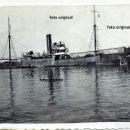 Militaria: VAPOR ACHURI PUERTO SANTANDER, TRANSPORTE MATERIAL GUERRA CIVIL 1937 LEGION CONDOR. Lote 149606266