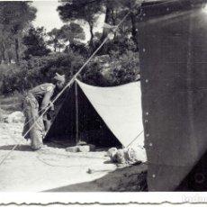 Militaria: TIENDAS CAMPAÑA CTV DIVISION LITTORIO ZONA SERRA CAVALLS (TARRAGONA) BATALLA EBRO 1938 GUERRA CIVIL. Lote 149607010