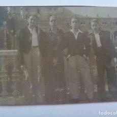 Militaria: POST GUERRA CIVIL: MINUTERO FOTOGRAFO CALLEJERO DE JOVENES MILICIANOS. SEVILLA, 1939. Lote 149677718