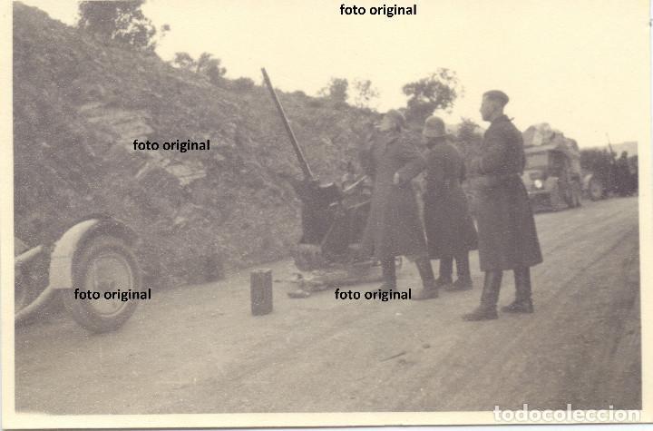 ZONA CATALANO-ARAGONESA RUMBO A CATALUÑA LEGION CONDOR AMETRALLADORA GUERRA CIVIL 1938 (Militar - Fotografía Militar - Guerra Civil Española)