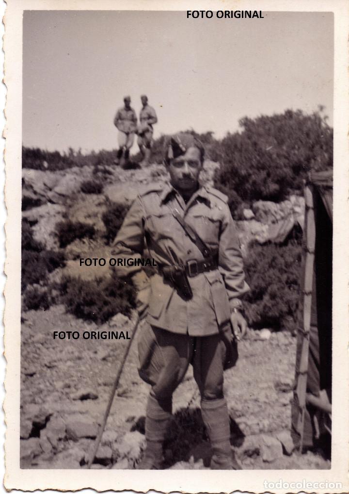 OFICIAL ITALIANO CTV MAESTRAZGO TERUEL RUMBO CASTELLON MAYO 1938 BATALLA LEVANTE GUERRA CIVIL (Militar - Fotografía Militar - Guerra Civil Española)