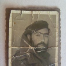 Militaria: GUERRA CIVIL : FOTO DE CARNET DE VOLUNTARIO REQUETE CON BOINA. Lote 149897426