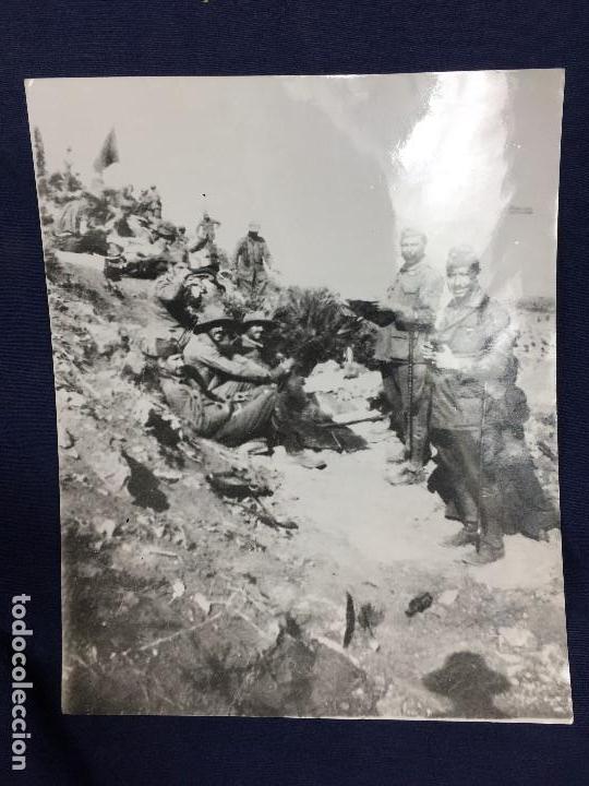 ANTIGUA FOTOGRAFÍA FRANCISCO FRANCO ALHUCEMAS LA CEBADILLA DESEMBARCO GUERRA CIVIL ESPAÑA 1923 (Militar - Fotografía Militar - Guerra Civil Española)