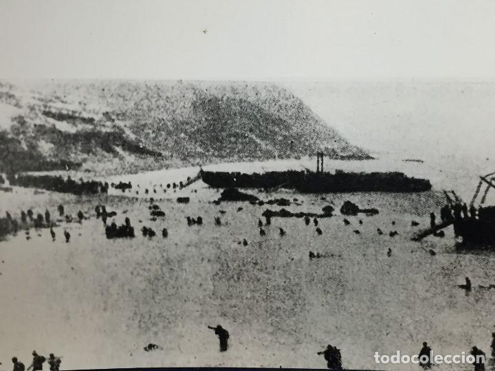 ANTIGUA FOTOGRAFÍA REVISTA ÁFRICA DESEMBARCO DE ALHUCEMAS GUERRA CIVIL ESPAÑOLA FRANCO PPIO S XX (Militar - Fotografía Militar - Guerra Civil Española)