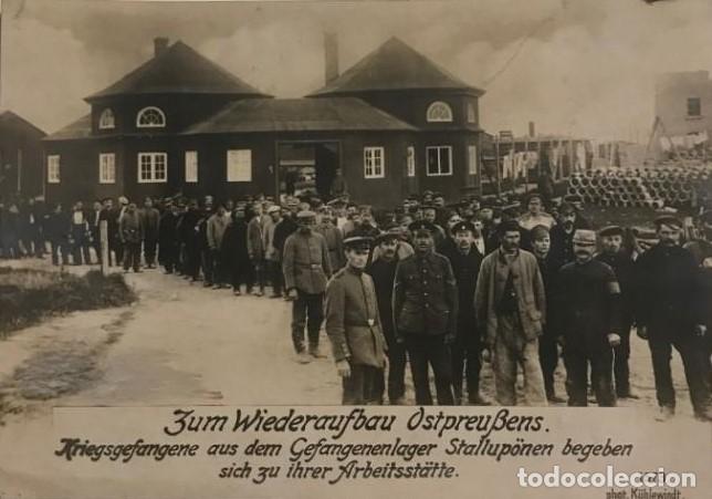 1916 PRISIONEROS DE GUERRA EN CAMPAMENTOS STALLUPONEN 1ª GUERRA MUNDIAL POSTAL FOTOGRÁFICA (Militar - Fotografía Militar - I Guerra Mundial)