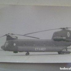 Militaria: AVIACION : FOTO DE UN HELICOPTERO DE LA FUERZA AEREA ESPAÑOLA, ET 407. Lote 151455286