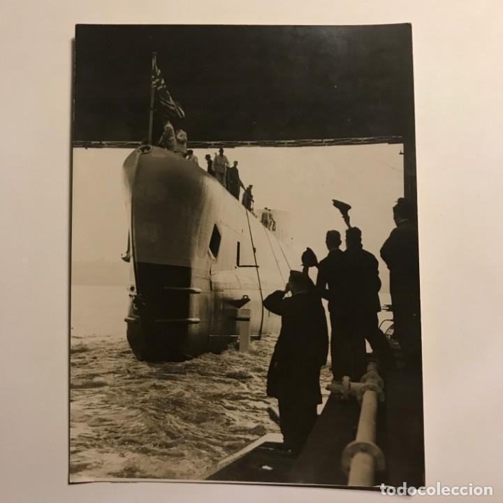 Militaria: El rearmamento naval de Inglaterra. Submarino 15,2x20,2 cm - Foto 2 - 149302682