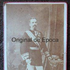 Militaria: (JX-190280)FOTOGRAFÍA DEL GENERAL D. ARSENIO MARTINEZ CAMPOS . . Lote 151489906