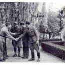 Militaria: OFICIALES LEGION CONDOR JARDIN ZARAGOZA 1937 GUERRA CIVIL. Lote 151615506