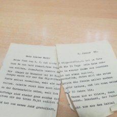 Militaria: CARTA DE UN SOLDADO ALEMÁN WW2. Lote 151836146