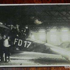 Militaria: ANTIGUA FOTOGRAFIA DE AVION FD17 LUTWAFE, AÑOS 20, TAMAÑO PÒSTAL MIDE 13,8 X 8,8 CMS. APROXIMADAMENT. Lote 151945770