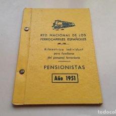 Militaria: TREN - FERROCARRIL : KILOMÉTRICO PARA FAMILIARES DE FERROVIARIOS CON FOTO. AÑO 1951. ENVÍO GRATUITO.. Lote 153237398