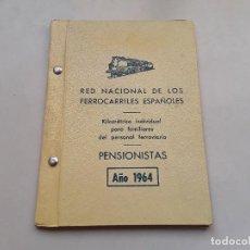 Militaria: TREN - FERROCARRIL : KILOMÉTRICO PARA FAMILIARES DE FERROVIARIOS. 1964. ENVÍO GRATUITO CERTIFICADO.. Lote 153238186