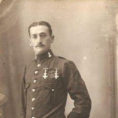Militaria: FOTOGRAFÍA MILITAR CONDECORADO - TARJETA POSTAL - FOTOGRAFÍA MARTE, TETUÁN (MARRUECOS) - AÑO 1915. Lote 153351918