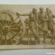 Militaria: GUERRA CIVIL : FOTO MILITARES Y ARMON DE ARTILLERIA.. Lote 153753658