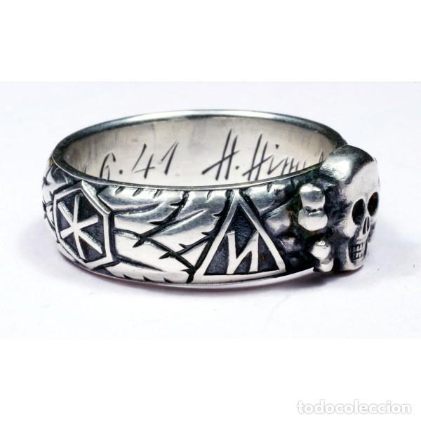 Militaria: ANILLO DE HONOR SS «Totenkopf»( plata) talla-10 - Foto 2 - 153835166
