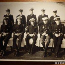 Militaria: FOTOGRAFIA ORIGINAL AÑO 1934 - TRIPULACIÓN COMBATE + STAFF SUBMARINO AMERICANO USS TEXAS -25 X 20 CM. Lote 153916526