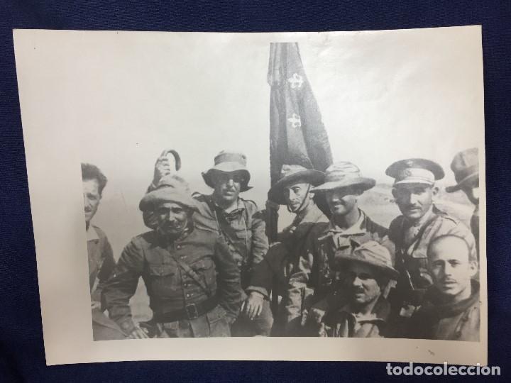 ANTIGUA FOTOGRAFÍA MILITAR FRANCISCO FRANCO MILITARES ÁFRICA GUERRA CIVIL ESPAÑA PPIO S XX (Militar - Fotografía Militar - Guerra Civil Española)