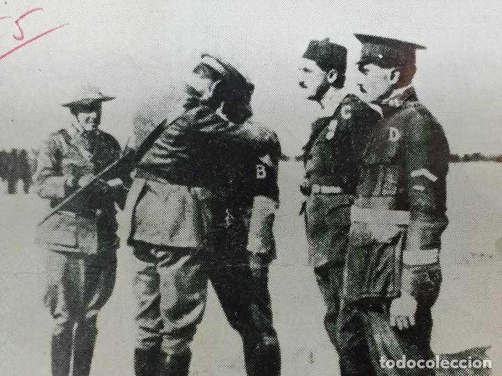 ANTIGUA FOTOGRAFÍA IMPOSICIÓN DE LA MEDALLA MILITAR AL COMANDANTE FRANCO LEGIÓN DAR DRIUS 1923 (Militar - Fotografía Militar - Guerra Civil Española)