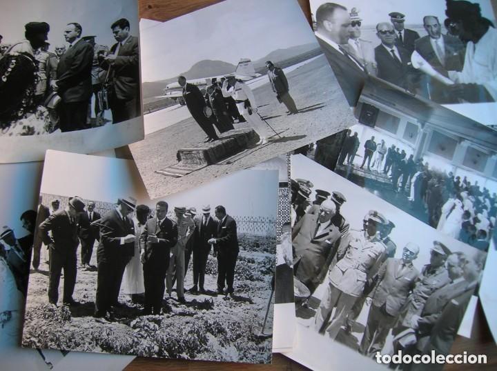 RARAS FOTOGRAFIAS INEDITAS DE FRAGA Y MILITARES VISITANDO SAHARA, IFNI, AIIUN, VILLA CISNEROS. (Militar - Fotografía Militar - Otros)