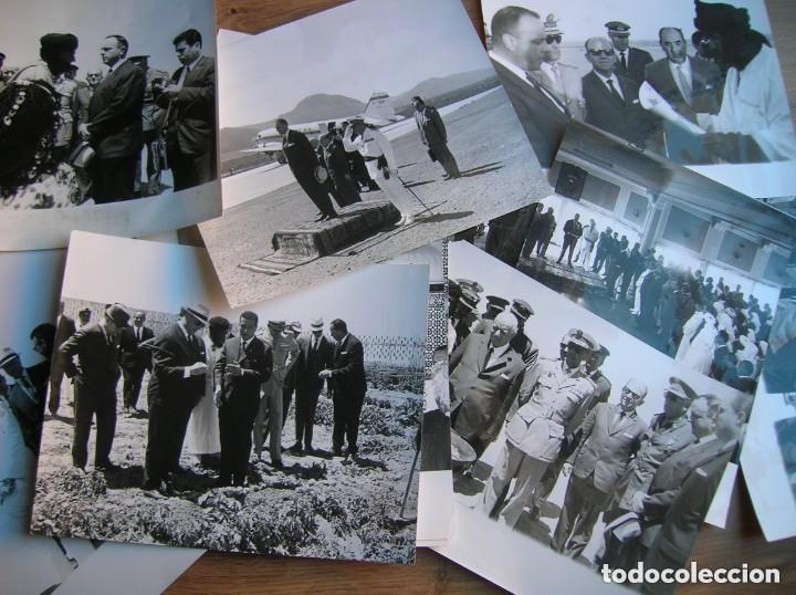 Militaria: RARAS FOTOGRAFIAS INEDITAS DE FRAGA Y MILITARES VISITANDO SAHARA, IFNI, AIIUN, VILLA CISNEROS. - Foto 11 - 154719546