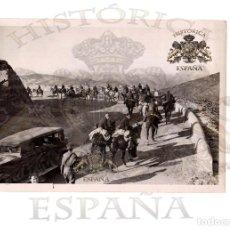 Militaria: RARÍSIMA FOTOGRAFÍA ORINAL. TROPAS REPUBLICANAS ABANDONANDO ESPAÑA POR LOS PIRINEOS.2.FEB.39.- 18X13. Lote 154729494