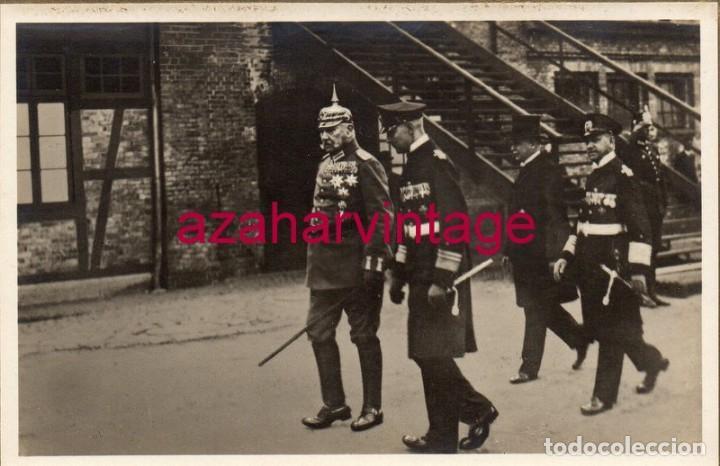 WWI, FOTOGRAFIA ORIGINAL DEL KAISER GUILLERMO, 140X90MM (Militar - Fotografía Militar - I Guerra Mundial)