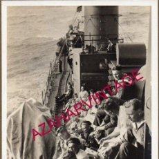 Militaria: WWI, FOTOGRAFIA ORIGINAL TRIPULACION DE UN TORPEDERO ALEMAN, 14X9 CMS. Lote 155099914