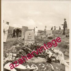 Militaria: WWI, FOTOGRAFIA ORIGINAL CEMENTERIO DE STENSHOLM, TUMBA DE GEORGE FOCK, 14X9 CMS. Lote 155131710