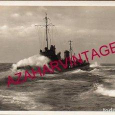 Militaria: WWI, FOTOGRAFIA ORIGINAL DE UN TORPEDERO ALEMAN, 14X9 CMS. Lote 155145134