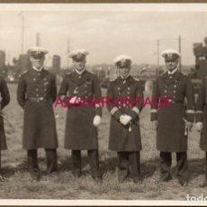 Militaria: WWI, FOTOGRAFIA ORIGINAL OFICIALES DE LA HALBFLOTILLE ALEMANA, 14X9 CMS. Lote 155145526
