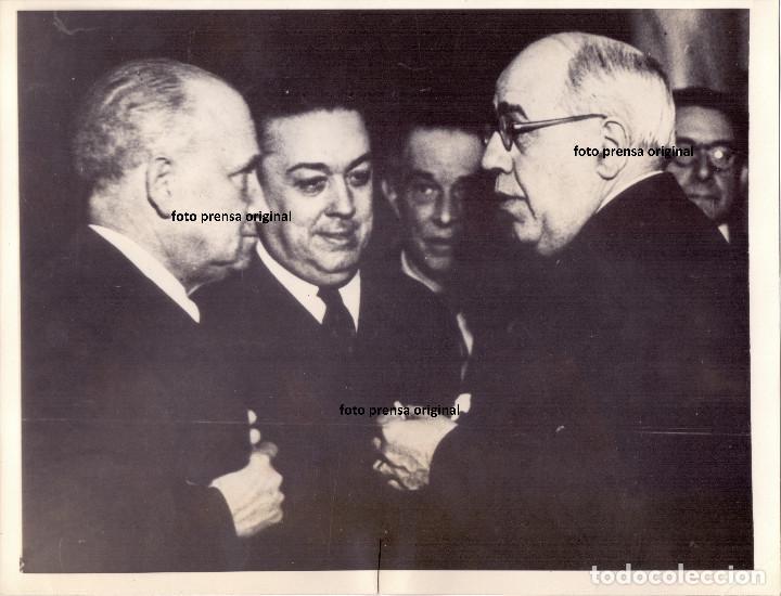 PRESIDENTE AZAÑA, LARGO CABALLERO Y MARTINEZ BARRIOS EN VALENCIA 1937 GUERRA CIVIL (Militaria - Militärische Fotografien - Spanischer Bürgerkrieg)