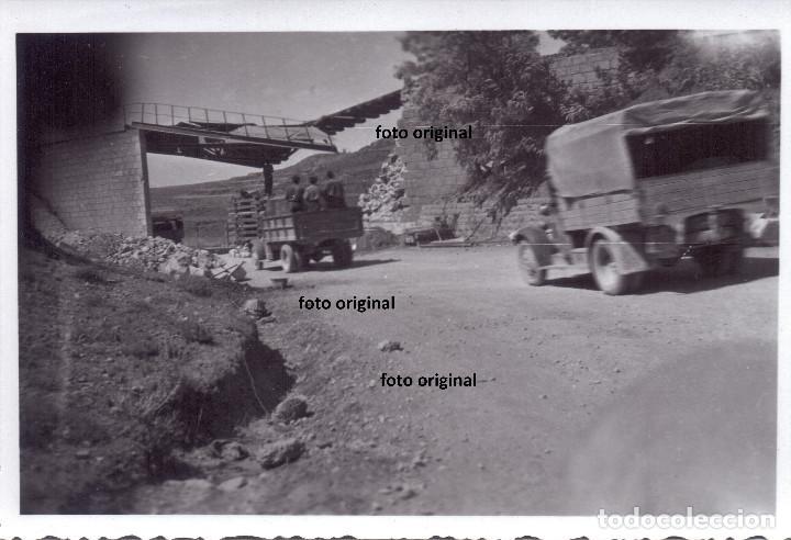 TRASLADO TROPAS CTV DIVISION LITTORIO DESDE ARAGON A CATALUÑA 1938 GUERRA CIVIL (Militar - Fotografía Militar - Guerra Civil Española)