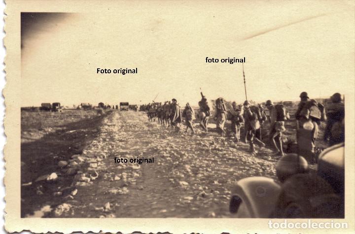 AVANCE TROPAS CTV DESDE LES GARRIGUES(LLEIDA) HACIA TARRAGONA 1938 GUERRA CIVIL LEGION CONDOR (Militar - Fotografía Militar - Guerra Civil Española)