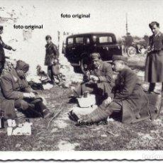 Militaria: DESCANSO OFICIALES ITALIANOS CTV DIVISION LITTORIO CERCA TOLEDO MARZO 1939 GUERRA CIVIL. Lote 155565882