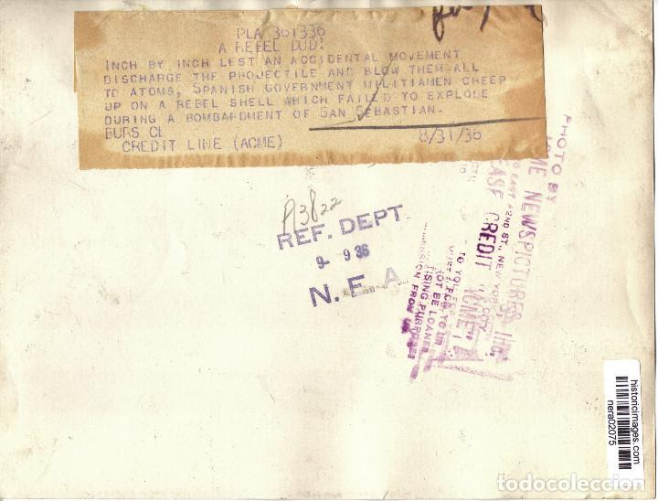 Militaria: BOMBARDEO SOBRE SAN SEBASTIAN MILICIANOS REPUBLICA CERCA AGOSTO 1936 GUERRA CIVIL - Foto 2 - 155651678