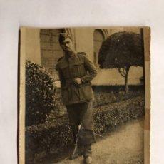 Militaria: MILITAR. RETRATO SOLDADO. PIE DE FOTOGRAFÍA: RECUERDO DE ZARAGOZA (H.1940?). Lote 155698674
